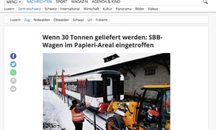 Luzerner Zeitung – Wenn 30 Tonnen geliefert werden